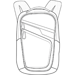 outline image of backpack
