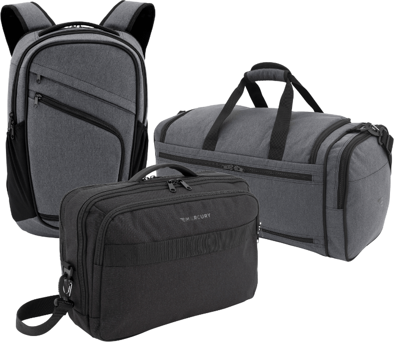 mercury luggage pro series bags, group shot