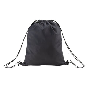 Front of Nylon Drawstring Backpack with Drawstring closed