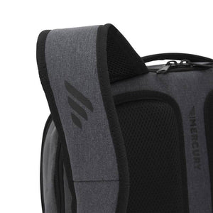 Closeup of strap on Pro Series Everyday Backpack, Gray