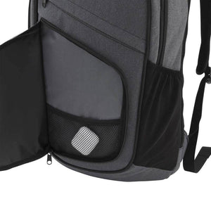 Front zippered organization pocket with mesh pouch on Pro Series Everyday Backpack, Gray