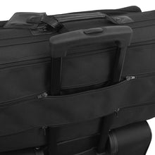 Load image into Gallery viewer, Garment bag attached to telescopic luggage suitcase handle - Tri-Fold Garment Bag