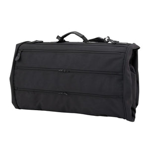 Back showing multiple zippered pockets - Tri-Fold Garment Bag