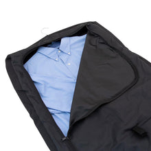 Load image into Gallery viewer, Opened main compartment showing nice dress shirt - Tri-Fold Garment Bag