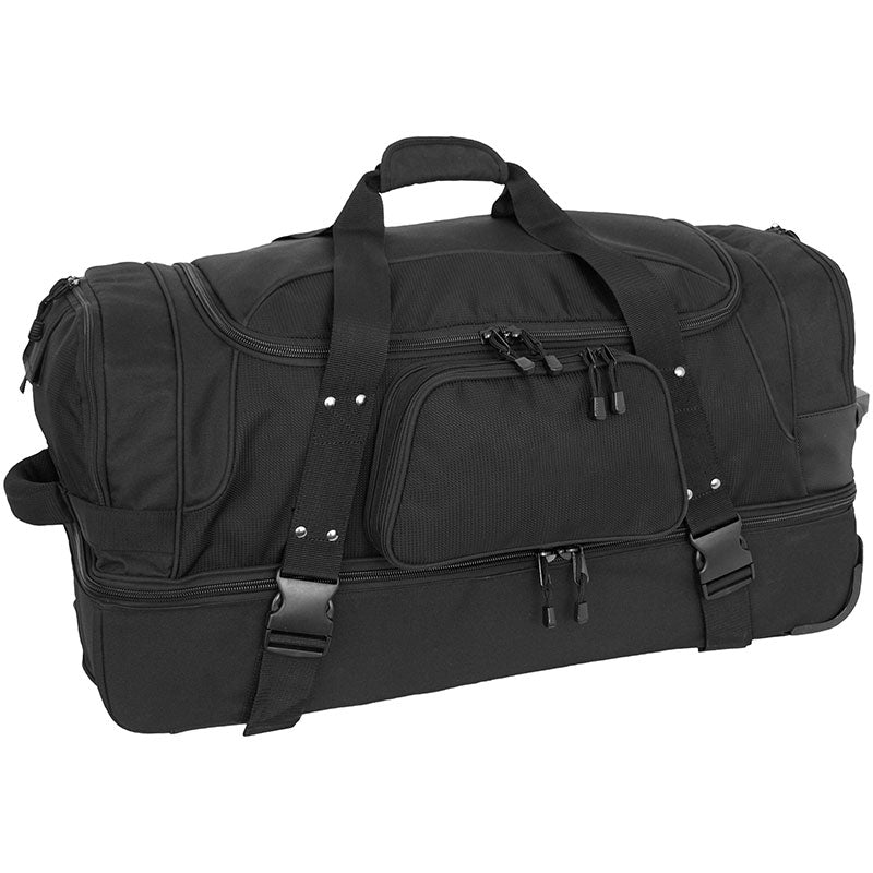 Full view of Gorilla Wheeled Duffel Bag, Black