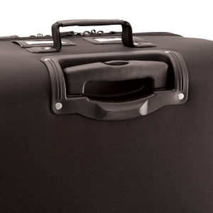 "Close up of telescopic handle not extended - 27"" Wheeled Upright, Black"