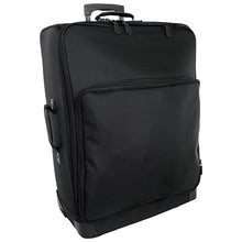 "Load image into Gallery viewer, Front with zippered pocket - 27"" Wheeled Upright, Black"