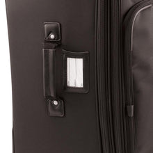"Load image into Gallery viewer, Luggage tag on side with carry handle - 27"" Wheeled Upright, Black"