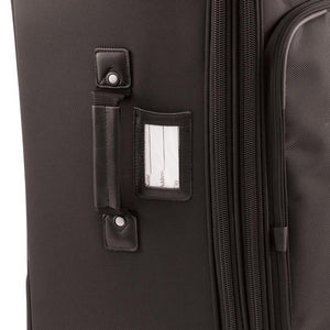 "Luggage tag on side with carry handle - 27"" Wheeled Upright, Black"