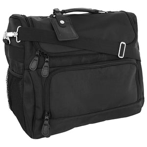Front view showing two zippered pockets - Signature Personal Tote, Black