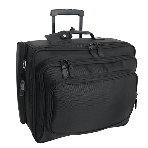 Full view of Wheeled Computer Case, Black