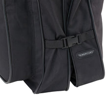 "Load image into Gallery viewer, Side showing clasps fastened together - 46"" Garment Bag, Black"