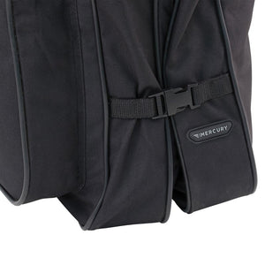 "Side showing clasps fastened together - 46"" Garment Bag, Black"