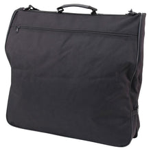 "Load image into Gallery viewer, Front with zippered pocket - 46"" Garment Bag, Black"