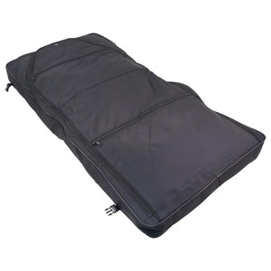 "Unfolded showing two zippers - 46"" Garment Bag, Black"