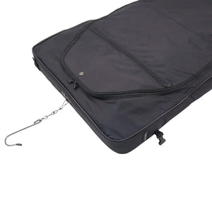 "Top with hanging hook and main compartment zipper- 46"" Garment Bag, Black"