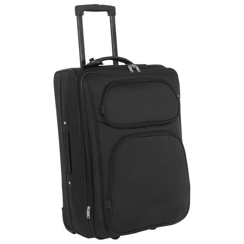 Full view showing telescopic handle and two front zippered pockets - Sport Team 24-inch Upright
