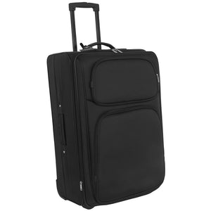 Full view showing telescopic handle and two front zippered pockets - Sport Team 28-inch Upright