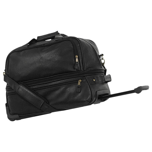 Small Expandable Wheeled Duffel, Black