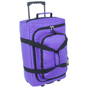zoomed out view of bag upright - Micro-Monster Bag, Purple