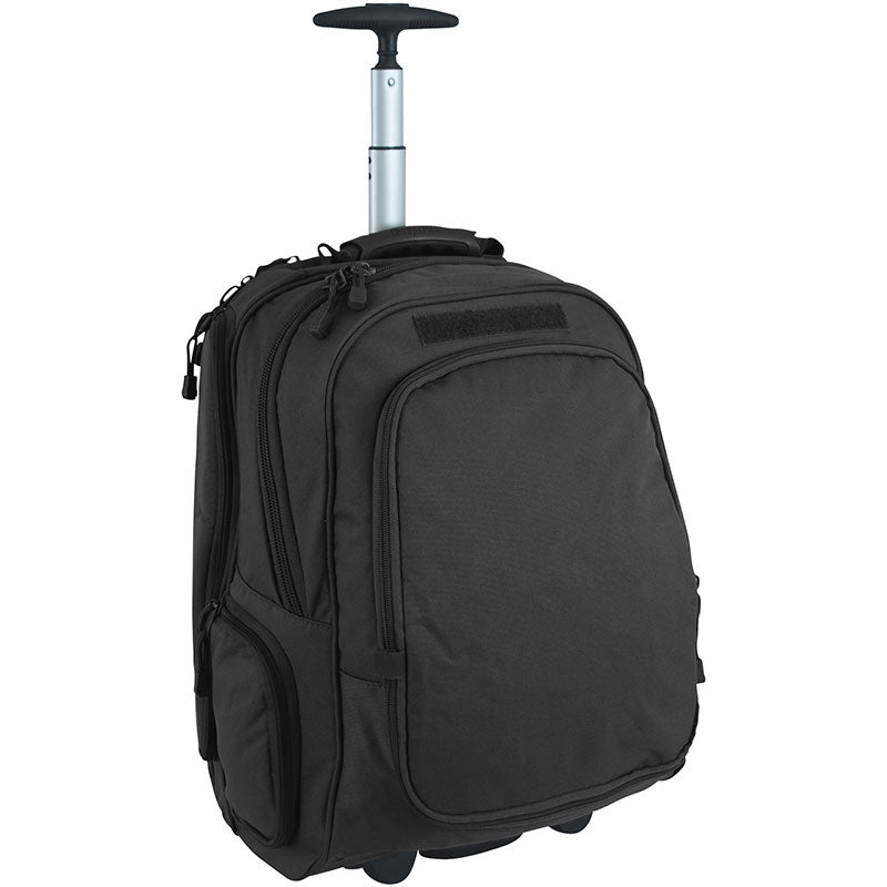 Full zoomed out view of Wheeled Laptop Back Pack, Black