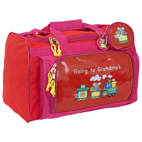 Going To Grandma's Duffel Bag, Red