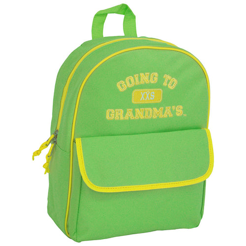 front view Going To Grandma's XXS Backpack, Green