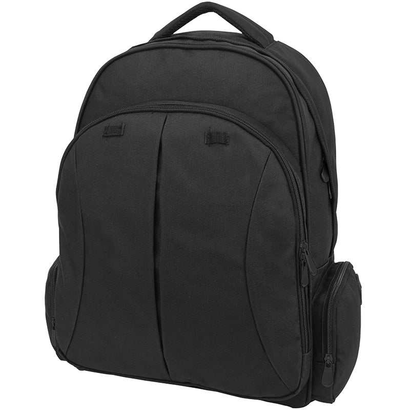 Front view, Organizer Backpack, Black