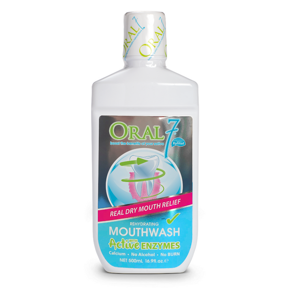 12 Pack - Oral7® Large Moisturizing Mouthwash - (17oz) Size