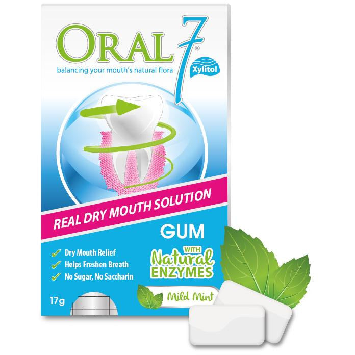 Oral7® Moisturizing Dry Mouth Gum - (12pcs)