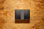 Card Wallet Black with Houndstooth