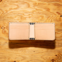 Compact Bi-Fold Vincent Brothers Kangaroo Leather Wallet