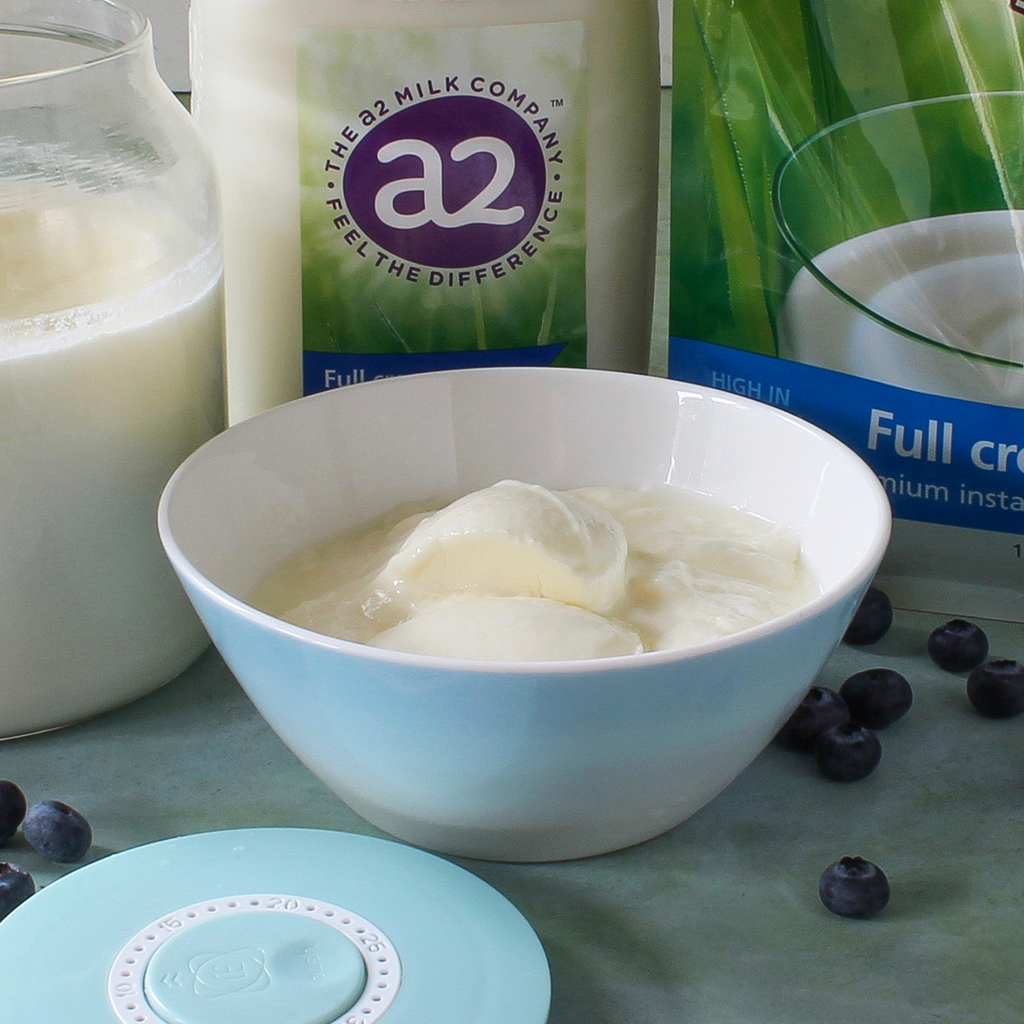 Easy to digest homemade A2 milk yogurt recipe