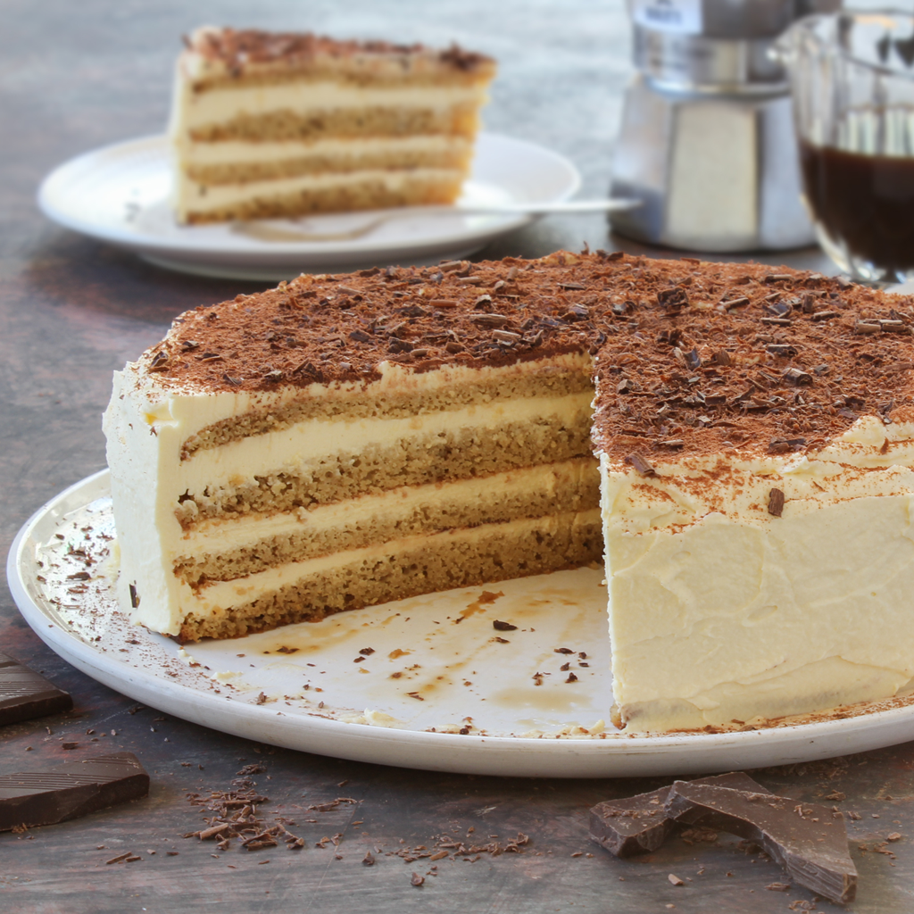 Grain-free cultured cream Tiramisu cake