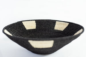 Small Black and White Sisal Basket by Alice