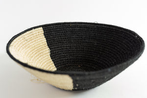 Black and White Sisal Basket by Ester