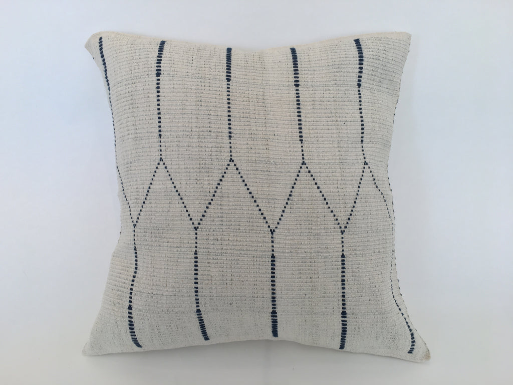 White Cotton Pillows - Handmade in India