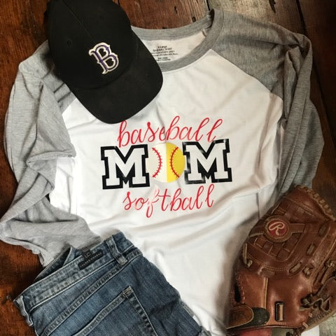Baseball and Softball Mom Shirt