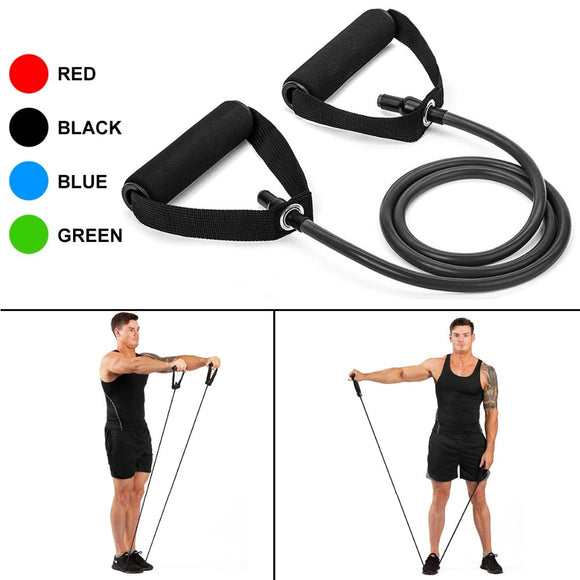 Yoga Pull Rope Resistance Bands Fitness Rubber expander- Workout - Tania's Online Closet, LLC