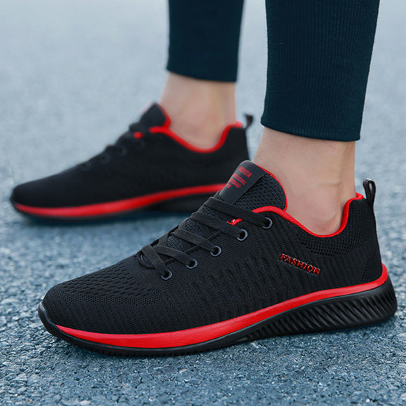 New Mesh Men Casual Shoes Lace-up Men Shoes Lightweight Comfortable Breathable Walking Sneakers - Tania's Online Closet, LLC