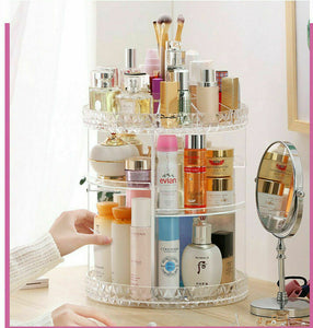 2019 Luxury Makeup Cosmetic Rack Holder 360 Degree Rotating Organizer - Tania's Online Closet