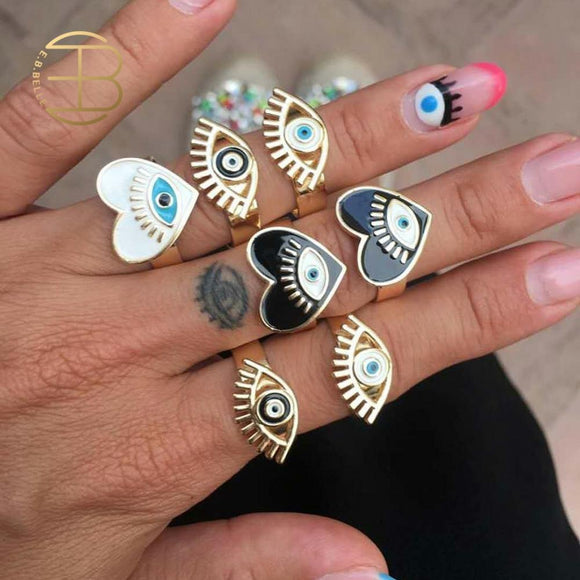 2020 Limited Time-limited Greek-Turkish Evil Eye Rings - Tania's Online Closet, LLC