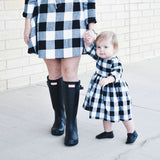2020 Long Sleeve Christmas Plaid Matching Dress Outfits Mommy And Me - Tania's Online Closet, LLC
