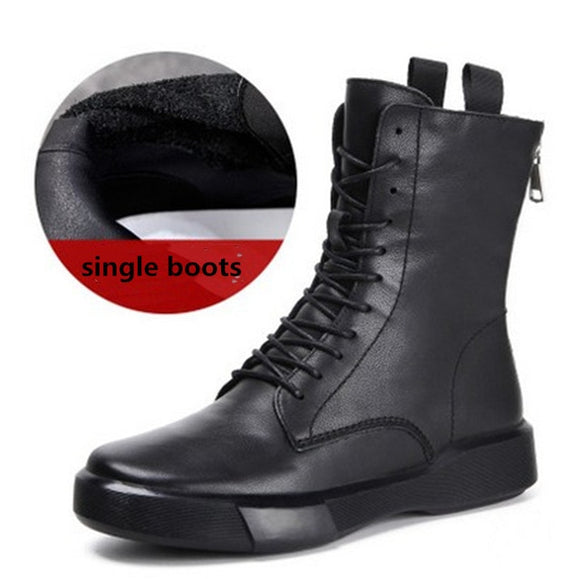 Genuine Leather Boots Women Winter Boots