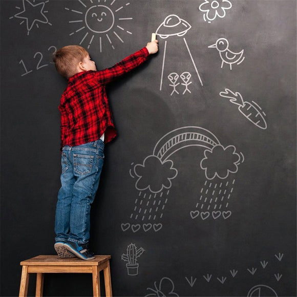 Draw Mural Decor Art Chalkboard Wall Sticker for Kids Rooms - Tania's Online Closet, LLC