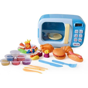 Children PretendSimulation Small Appliances Microwave Oven Tableware Kitchen Cooking Utensils Toys - Tania's Online Closet, LLC