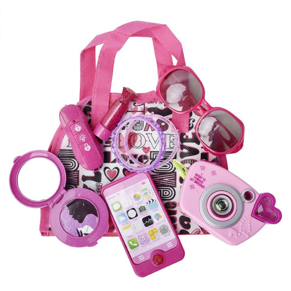 Children's Simulation Cosmetics Princess Makeup Purse set - Tania's Online Closet, LLC