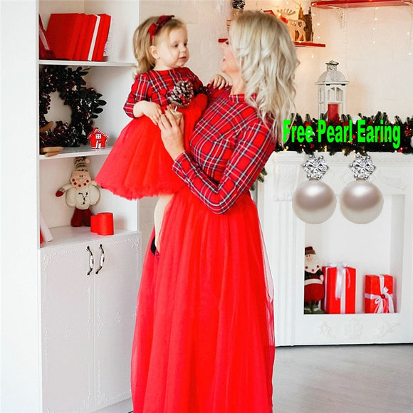 Christmas Mother Daughter Dresses Mommy and Me Family Matching Outfits - Tania's Online Closet