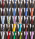 Classic 8cm Ties for Man 100% Silk Tie Luxury Tie for Men - Tania's Online Closet, LLC