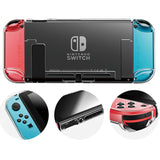Detachable Crystal PC Transparent Case For Nintendo Switch Hard Clear Back Cover Shell - Tania's Online Closet, LLC